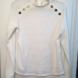 Tops - Evernew high neck white long sleeved top